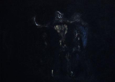 Urszene, Acryl auf Hartfaser, 55x70, 2015