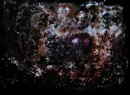 Comic cosmos, Acryl auf Kork, 110x140, 2012