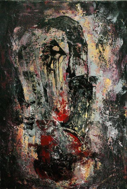 Wiederkehr der Totems, Acryl auf Holz, 70x50, 2015