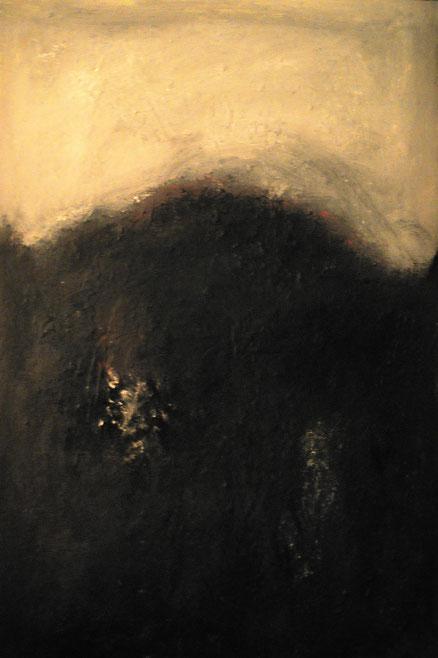 Skogsnuvistische Landschaft, Acryl auf Hartfaser, 100x80, 2014