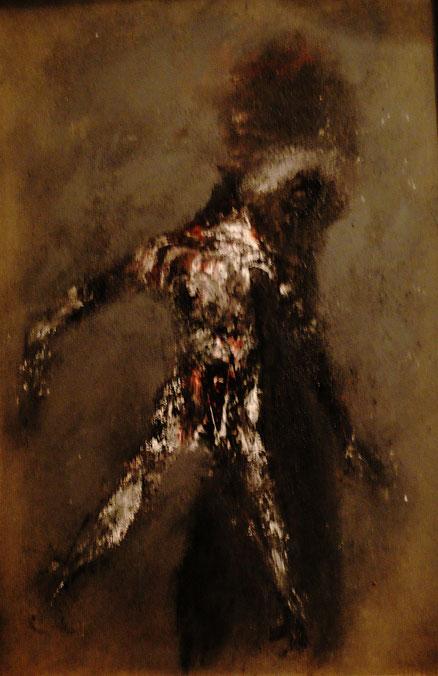Mamma Medusa, Acryl auf Hartfaser, 73x50, 2015