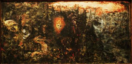 Traumwald, Öl auf Karton, 45x80, 2011