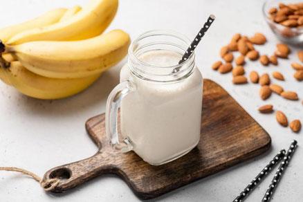 Batido de proteína whey y fruta