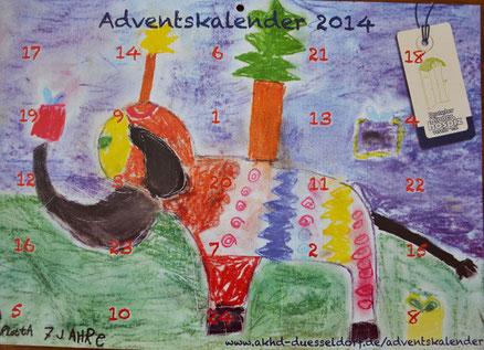Der Adventskalender vom Kinderhospizdienst jetzt im Pantakea