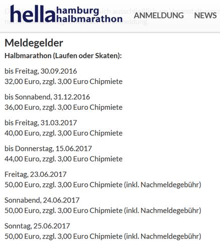 freaky running, Halbmarathon, Hamburg, trainieren, Meldegelder