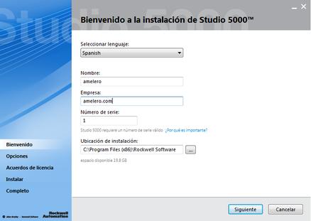 última versión Studio 5000 RSLogix v26.00 2015