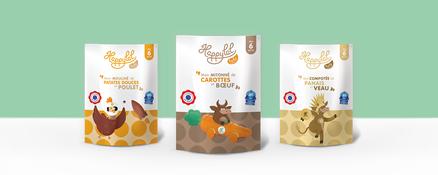 Box de petits pots halal et bio pour Bébé à partir de 6 mois, cuisinés en France avec des viandes françaises et 90% d'ingrédients bio