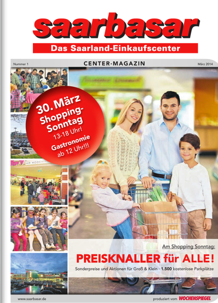 BLOG, 03.2014 saarbasar Center Magazin Titelseite