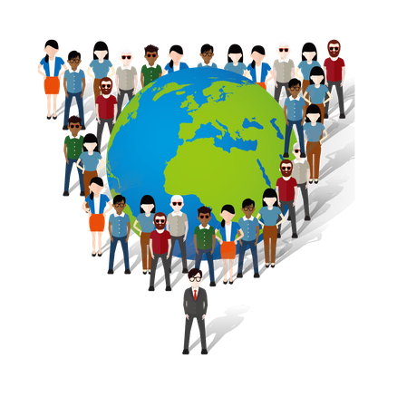 Par métonymie, de nombreux versets utilisent le mot « terre » pour désigner les humains qui y habitent. On pourrait dès lors substituer le mot « terre » par : habitants, peuples, monde, humains, nations, société humaine…