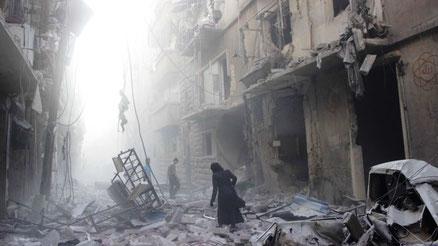 Assad regimet sønderbombede Aleppo