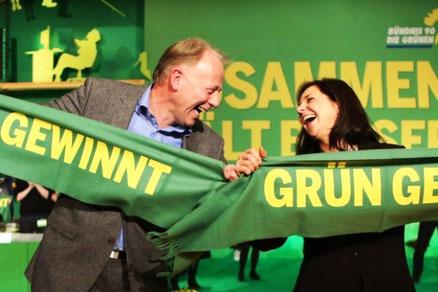 Die Grünes toppolitikere Jürgen Trittin og Katrin Göring-Eckard