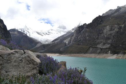 Laguna de Parón, hacia atrás los nevados