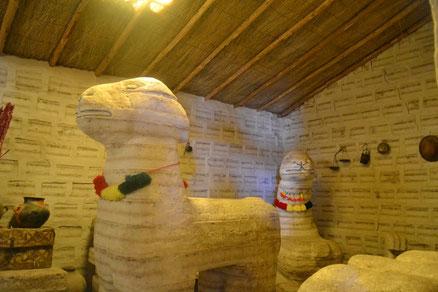 Una de las esculturas de sal en el museo