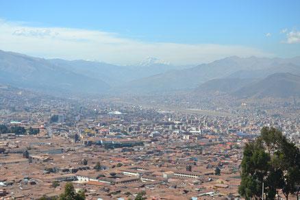 A la salida de Cusco