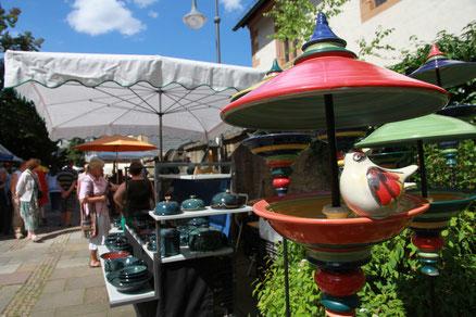 Bild: Vogelhütte Keramik