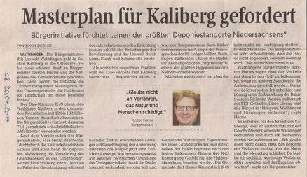 Quelle: Cellesche Zeitung, 20.04.2017