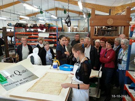Visite atelier Quillet à Loix