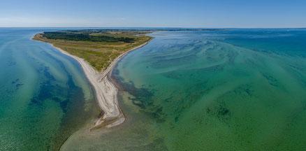Luftbild der dänischen Ostseeinsel Endelave. Foto: PR/Destination Kystlandet/Melissa Villumsen