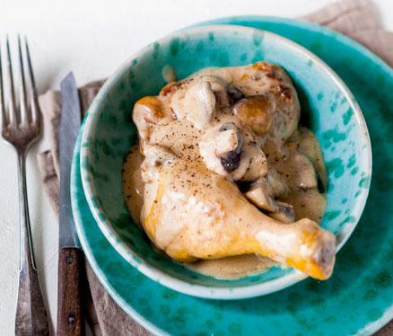 recette-poulet-au-vouvray-crème-champignons-vin-de-Loire