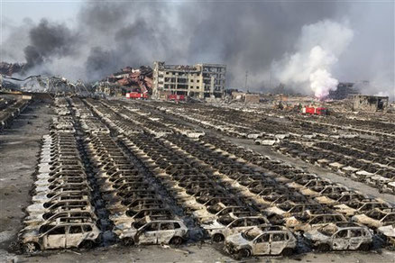 Massive devastations caused by the explosions in the port of Tianjin result in tighter security checks
