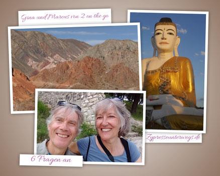 6 Fragen an  Gina und Marcus von 2 on the go – Reisen, besser spät als nie
