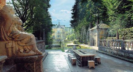 Die Wassserspiele in Hellbrunn faszinieren jeden