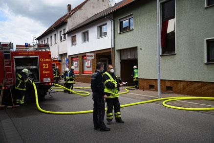 Der Brandort in der Marktstraße