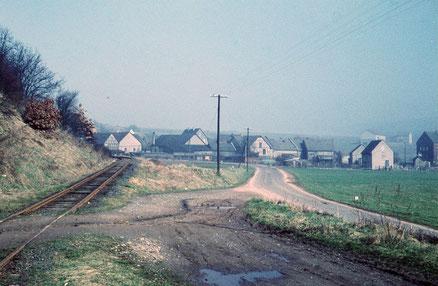 1961 kurz vor Abriß der Gleise