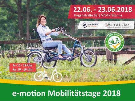 e-motion Dreirad Mobilitätstage in Worms