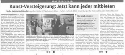 """Pressebericht Südkurier """"Kunst-Versteigerung: Jetzt kann jeder mitbieten"""""""