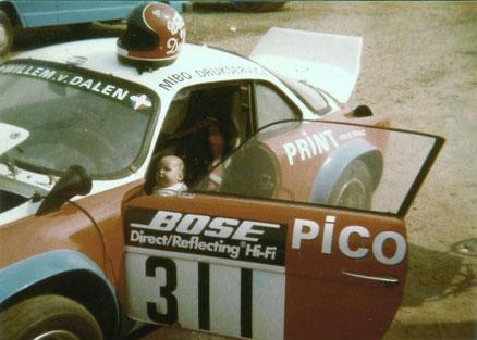 Ik als klein hummeltje in de Alpine Renault A110