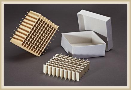 Kryobox aus Karton in der Farbe weiß