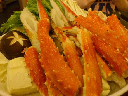久々の日式のカニ鍋。最後は雑炊でしめてお腹いっぱい。