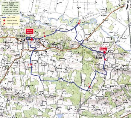 Circuit des Belvédères entre Banos et Montaut