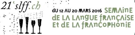 Affiche de la 20e Semaine de la langue française et de la francophonie en Suisse. Hyperlien.