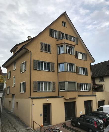 """das """"Zehnthaus"""" heute an der Kirchgasse ..."""