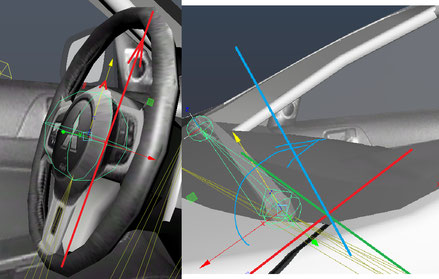Steering wheel and window wipers joint orientation
