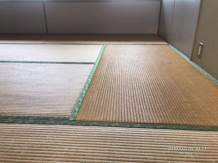 横浜市港南区の畳屋さん 内藤畳店 い草の畳替え前