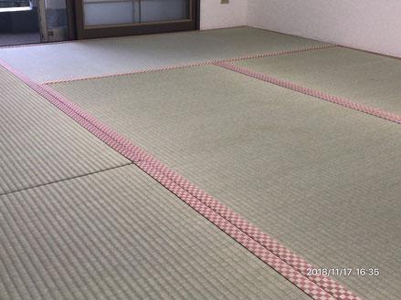 横浜市港南区の畳屋さん 内藤畳店 い草の新畳に変えた後