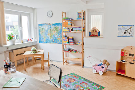 Raum der Logopädie für die Behandlung von Kindern ab dem 1. Geburtstag