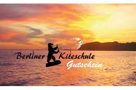 Geschenkgutschein Kitelandboarding Kitesurfen Snowkiten Berlin Rügen
