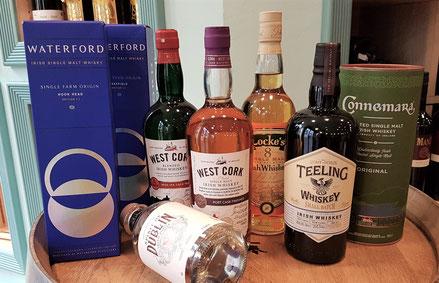 Auswahl Irische Whiskies