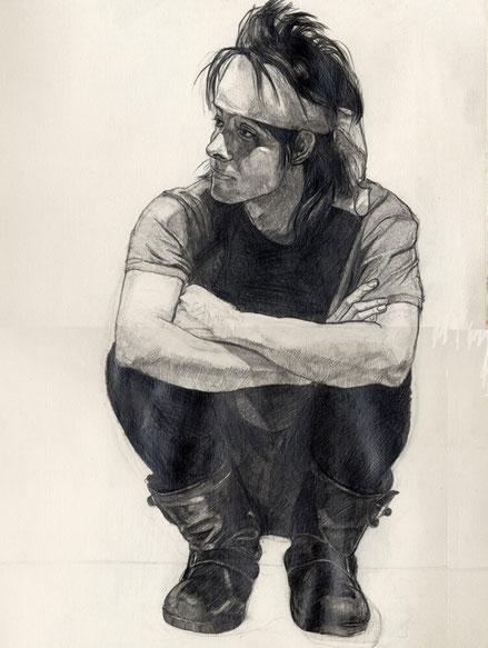 マーシー,1990, K.Nishikawa, pencil, F6