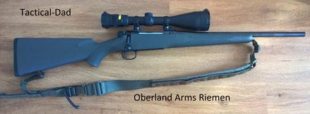 """Mauser M12 """"Extreme"""" mit Handspannung in .308 mit Trijicon Accupoint Zielfernrohr und Oberland Arms Riemen."""