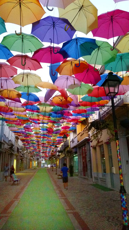 Agueda, Umbrella Sky Project, Portugal, Nordportugal