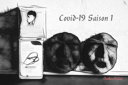 Covid-19; saison 1. Cénac, confinement du mardi 17 mars 2020 au...    © Christian Coulais (Réalisation des masques : Nina Coulais)