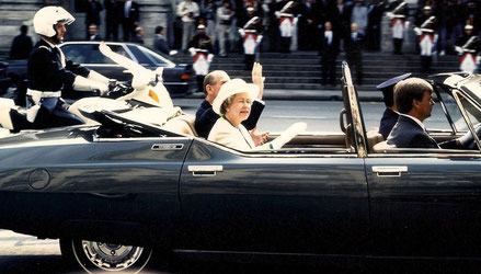 Her Majesty the Queen Elisabeth II, 04/06/1992 © Christian Coulais