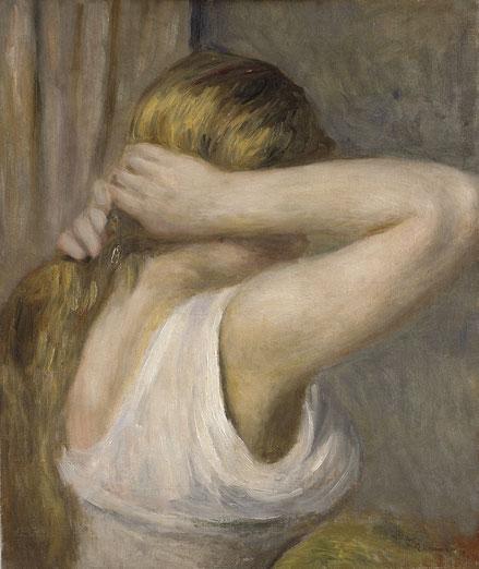Joven con brazos levantados 1895. Óleo sobre lienzo.46x38cm.Bremen,Kunsthalle Bremen-der Kunstverein in Bremen.