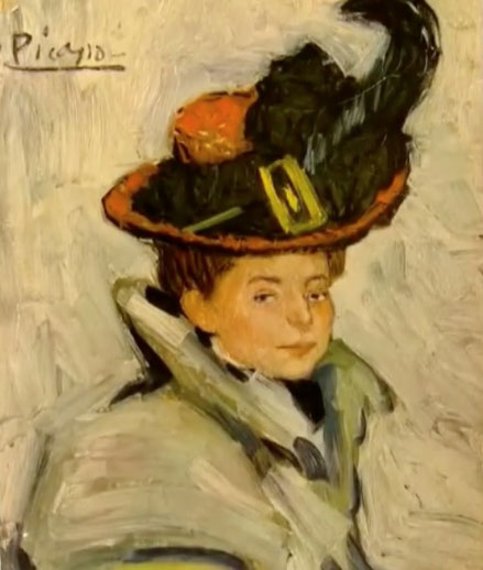 Pablo Picasso. Mujer con capa,París 1901.Óleo sobre lienzo, 73x50cm.The Cleveland Museum Of Art.