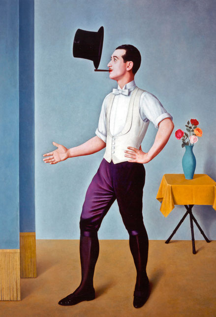A.Dongui.Malabarista 1936.Unicredit Art Collection. Silencioso intérprete de un equilibrio imposible...una realidad descita analíticamente.